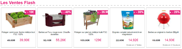 exemple ventes flash