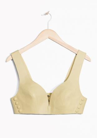 &Other Stories Leather Top 73€