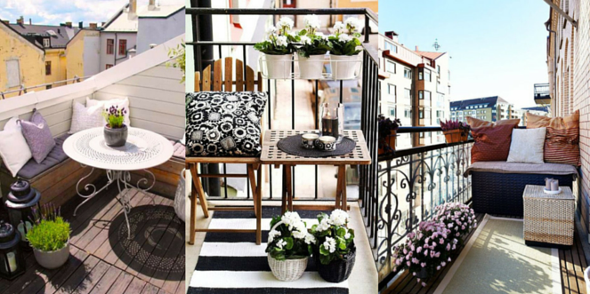 Amnagement balcon amnagement balcon amnagement balcon u choix de mobilier stores et plantes - Amenagement petit balcon ...